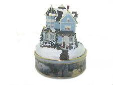 """Thomas Kinkade """"A Holiday Gathering"""" Porcelain Illuminated Music Box 2001"""