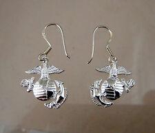 MARINE CORPS Licensed EGA PENDANT HAND MADE EAR RING .925