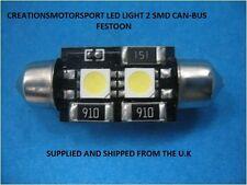2X 2 Canbus SMD LED Bulb Light Interior Festoon Lamp CW5 42mm ERROR FREE