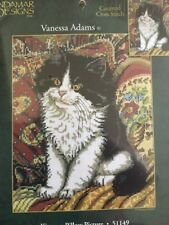 Kitty On A Pillow Picture Counted Cross Stitch Candamar  Vanessa Adams #51149