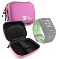 Hardwearing Pink Storage Case With Soft Lining for TomTom Spark 3 Smartwatch