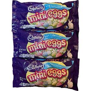 New Cadbury Mini Eggs Milk Chocolate Candy Shell 3 Bags 10 oz Each Exp 04/22