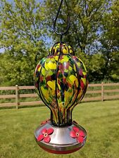 Gianna's Home Hand Blown Glass Hummingbird Feeder