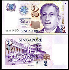 SINGAPORE 2 DOLLARS 2005 PAPER P 45A UNC