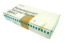NEW BOX OF 50 SIEMENS 8WA1-734 TERMINAL BLOCKS 8WA1734