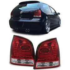 Red clear finish LED tail rear lights for VW Polo 9N3 2005-2009