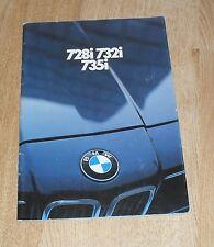 BMW 7 Series Brochure E23 - 728I 732I 735I 1981-1982