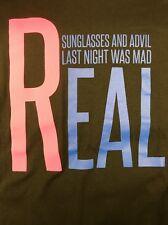 Sunglasses And Advil Last Night Was Mad Real Kayne West Black Tee Shirt Men XXXL
