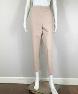 THE ROW Pants Nylon Cotton Stretch Zip-Fly Blush Pink/Nude SO NICE! 10 (fits 8)