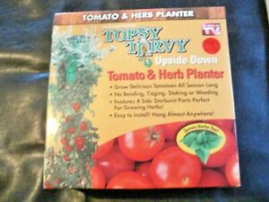 TOPSY TURVY Garden UPSIDE DOWN TOMATO PLANTER Ships quickly!