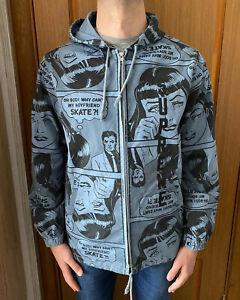 Supreme Thrasher Boyfriend Hooded Zip Up Blue Jacket Size- Large