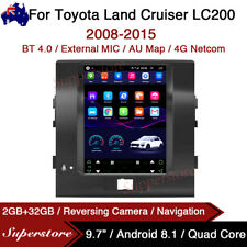 """9.7"""" Tesla Style Android Car Stereo gps For Toyota Land Cruiser LC200 2008-2015"""