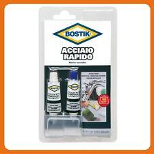 ACCIAIO RAPIDO ADESIVO COLLA BICOMPONENTE EPOSSIDICO FORTE PRESA BOSTIK 2x15 ml