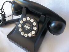 Vintage Look Crosley Black Classic Desktop Push button Telephone Works Well