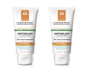 2 Pack La Roche-Posay Anthelios Clear Skin SPF 60 Sunscreen 1.7 oz Exp. 06/2021+