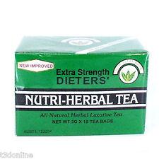 NUTRI LEAF Dieters Herbal Tea 15 bags extra strength Laxative Diet Slim Tea