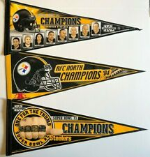 Pittsburgh Steelers 5-Time Super Bowl Champs Nfl Football Collector Pennant Lot