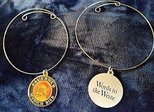 "Paulaner Munich Bier BEER Bottle medallion Charm Bracelet ""Words to the Weize"""