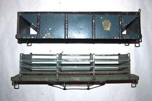 IVES Prewar Wide or Standard Gauge 191 Coke & 193 Stock! Parts or Restore! PA