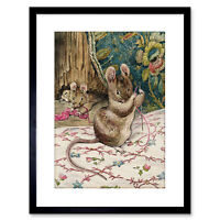 Helen Beatrix Potter The Mice At Work Threading Needle Framed Print 9x7 Inch