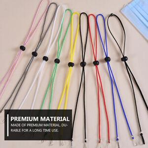 12x Verstellbar Alltagsmaskenkette Maskenkette Halskette Maskenhalter Maskenband