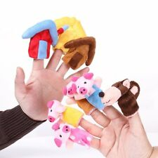 """New 8Pcs/Set """"The Three Little Pigs"""" Animal Finger Puppet Early Educational Toys"""