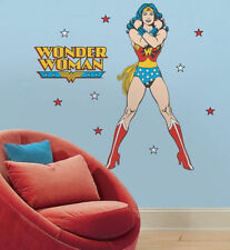 "WONDER WOMAN wall stickers MURAL 19 decals 45"" DC comics classic superhero party"