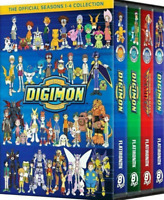 Digimon : The Complete Series Official Season 1-4 1 2 3 4 Collection ( New DVD )