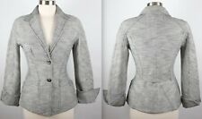 Vintage sz 36 / US 4 Thierry Mugler Paris Couture gray jacket hourglass silver