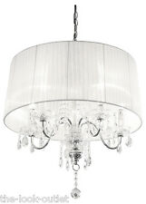 BLANC BEAUMONT 5 CLAIR CHANDELIER
