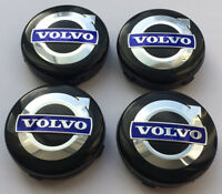 4x NEW BLACK VOLVO WHEEL CENTRE CENTER CAPS C30 C70 S40 V50 S60 V60 V70 S80 XC90