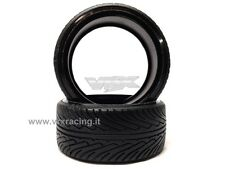 COPPIA DI GOMME DRIFT SCOLPITE 1/10 ON ROAD TIRE-002-A DRIFTING TYRES 2PCS VRX