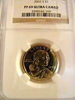 2002-S Sacagawea Dollar NGC PF 69 Ultra Cameo