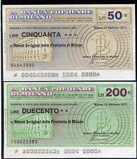 BANCA POPOLARE MILANO 14/1/1977 UNIONE ARTIGIANI MILANO/PAPER MONEY FDS/UNC