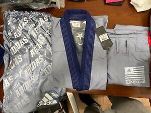 adidas Stars & Stripes Jiu Jitsu Gi A0 Gray w/Gi Bag
