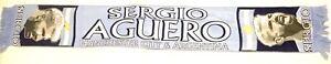 Manchester City Scarf Sergio Aguero Flat Design Scarves