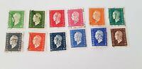 Lot 12 timbres français ancien marianne dulac série de Londres 1945 ww2 guerre