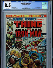 Marvel Feature #12 CGC 8.5  VF+ Marvel Comics 1st Marvel 2 in 1 Thanos's Base K8
