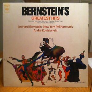 Leonard Bernstein - Greatest Hits - 1971 Columbia vinyl LP - WEST SIDE STORY