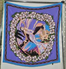 Bob Mackie Hawaiian Printed Square Silk Scarf --Purple Multi