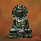 "12"" Marble Buddha Marquetry Pietradura Stone Beautiful Gift Home Decor Art H3788"