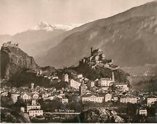Suisse, Sion, Valais  Vintage print.  Photomécanique  20x25  Circa 1898