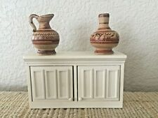 Vintage Miniature Dolhouse lDresser Wine Cabinet Credenza Mexico Pitcher Vase