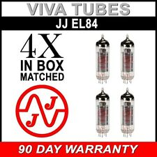 Brand New Matched Quad (4) JJ EL84 6BQ5 Fully Tested Guaranteed Vacuum Tubes