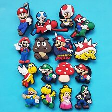 Super Mario Bros. Cake Toppers 16 Cupcake Decorations Party Favours NEW