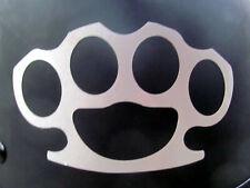 Brass knuckles REFLECTIVE streetfighter helmet decal