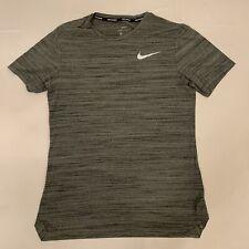 Nike Running Dri-Fit Mens Short Sleeve Shirt Gray Small DriFit EUC