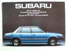 Prospetto SUBARU 1600 sagomate Limousine/stazione Premiere, 1980, 4 pagg. Austria