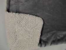 """Little Miracles Gray Baby Blanket White Sherpa Back Thick Soft Costco 30"""" X 45"""""""