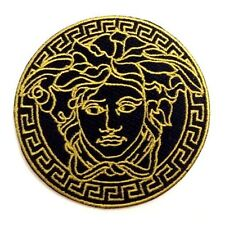 MEDUSA Logo Gold and Black Patch 2.5in Iron On Patch si